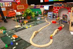 "Great train set up ("",)"