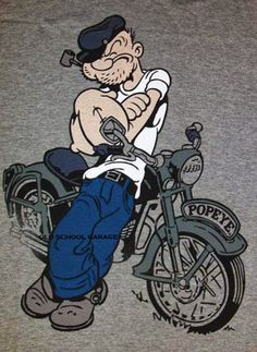 popeye biker Go Away Garage