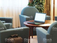 Laptop In Waiting Room
