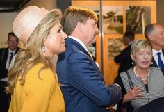 ♥•✿•QueenMaxima•✿•♥...King Willem and Queen Maxima visited the Quake City
