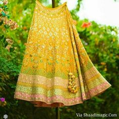 Summer Wedding, Wedding Day, Yellow Lehenga, Lehenga Choli, Tie Dye Skirt, Summer Dresses, Skirts, Fashion, Pi Day Wedding