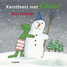 Kerstfeest met Kikker | Morgen is het Kerstmis en het sneeuwt. Voor Kikker is het feest! Hij maakt een sneeuwpop, gaat sleeën met Eend en haalt een kerstboom uit het bos. En voor het kerstfeest nodigt hij al zijn vrienden uit. En wat is er mooier dan kerst vieren met al je vriendjes? Kerstfeest met Kikker is een prachtig boekje met sfeervolle winterprenten van Max Velthuijs.