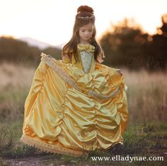 Belle Princess Gown Costume in Yellow by EllaDynae on Etsy