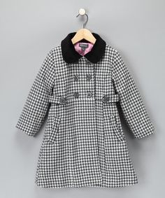 Kenneth Cole Houndstooth Pea Coat