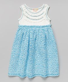 Look at this Pink Vanilla Blue Leopard Ruffle Babydoll Dress - Toddler on #zulily today!