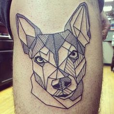 In love with my new #tattoo of Barley! Thanks, @dianaregalado! #ratterrier #linework #dogtattoo