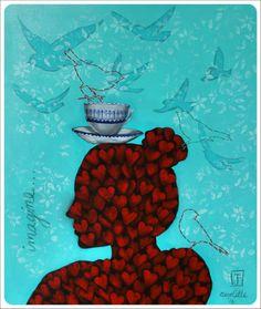 Imagine. Painting @ Nicolette Geldenhuys Art