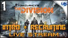 THE DIVISION Walkthrough Multiplayer Gameplay Live Stream Part 1 INTRO +...
