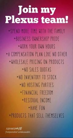Visit my website to see the full Plexus line of products and contact me for further information on how you too can work from home! http://shopmyplexus.com/reginaldavidson