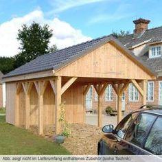 Einzelcarport solides massivholz einzelcarport mit for Stabile dreiecke