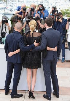 Tom Hardy, Charlize Theron, Nicholas Hoult | 68th annual Cannes Film Festival | May 14, 2015 | Cannes  Credit: Tristan Fewings / Getty Images
