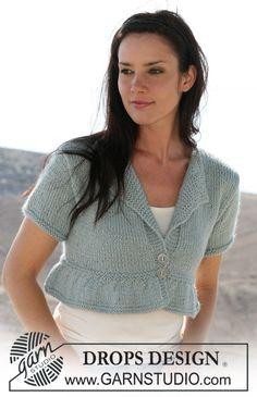 "DROPS 106-30 - Short DROPS jacket in stocking stitch in ""Silke-Alpaca"" Sizes: XS - XXL. - Free pattern by DROPS Design"