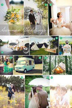 Summer wedding inspiration board.
