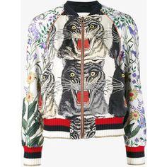 Gucci Patchwork print bomber jacket