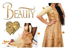 """""""GOLDEN BROWN SILK GOWN WITH JACKET"""" by dvibgyor ❤ liked on Polyvore featuring Disney"""