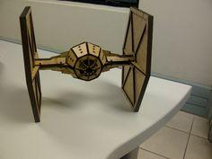 Star Wars Tie Fighter #lasercut