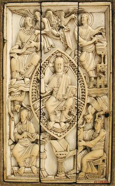 Plaque with Christ in Majesty and the Four Evangelists Date: 11th century Geography: Made in Cologne, Germany