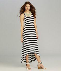 Moa Moa Striped Braid-Back Dress | Dillard's Mobile