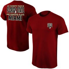 Florida State Seminoles My Favorite Team T-Shirt – Garnet - $19.99