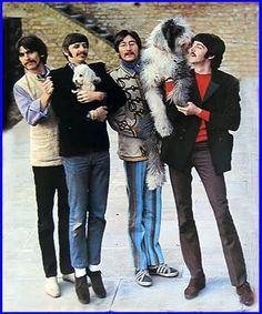 Famous people (The Beatles) + Dogs
