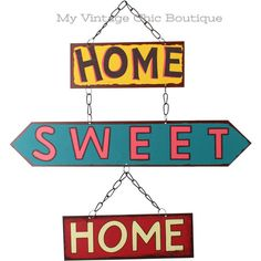 """Metal Sign Plaque Vintage Retro Gift """"Home Sweet Home"""""""