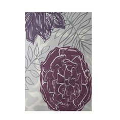 Found it at Wayfair - Floral Purple Indoor/Outdoor Area Rug
