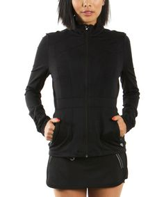 Another great find on #zulily! Black Contouring Track Jacket by Colosseum #zulilyfinds
