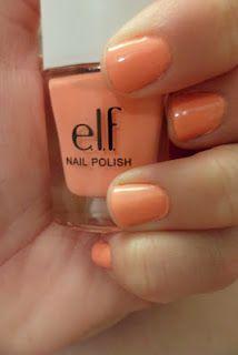 love this color. Elf Nail Polish, Coral Nail Polish, Coral Nails, Spring Nails, Summer Nails, Pretty Birds, You Nailed It, Nail Colors, Hair Makeup