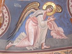 Order Of Angels, Byzantine Icons, Religious Images, Orthodox Icons, Ikon, Christianity, Disney Characters, Fictional Characters, Saints