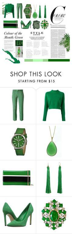 """Emerald"" by jaimewareham ❤ liked on Polyvore featuring Versace, DKNY, Simplify, Dabakarov, Lanvin, Taolei, Nine West, Arnold Scaasi, Surratt and Ralph Lauren"