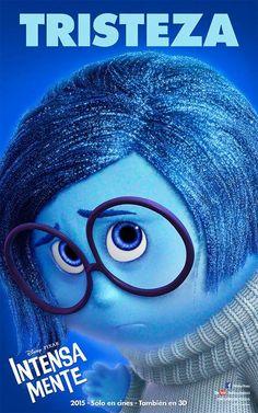 Ella es tristeza, la sientes cuando estas triste, ella es muy triste ¿Quieres Conocerla?  Mira Intensa Mente solo en Cines y en Teatros. #IntensaMente