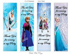 Frozen Book Marks, DIY Printable, Thank you party favors, Frozen party favors, Frozen BookMark, Anna and Elsa, Olaf Disney