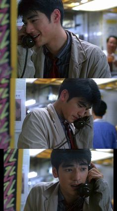 When a boy calls to his love Film Aesthetic, Aesthetic Vintage, Chungking Express, Best Entrepreneurs, Takeshi Kaneshiro, Movie Shots, American Psycho, Film Books, Old Hollywood Glamour
