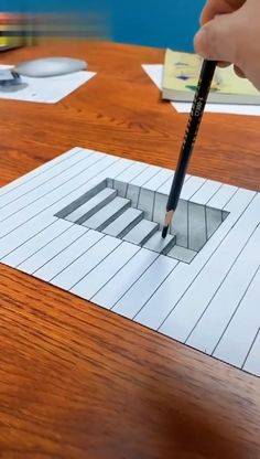 Exploring Hyperrealism Drawing and Painting Techniques – Zeichnung 3d Art Drawing, Art Drawings Sketches Simple, Pencil Art Drawings, Cool Drawings, Realistic Drawings, Geometric Drawing, Stairs 3d Drawing, 3d Pencil Art, Easy 3d Drawing