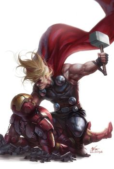 http://www.styleyourwear.com/category/adult-onesie/ http://www.lookingwear.com/category/adult-onesie/ Thor vs. Iron Man by In-Hyuk Lee * More