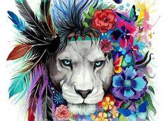 Tribal Lion Diamond Painting makes beautiful diamond art for animal lovers! This DIY diamond painting kit has everything you need to create a masterpiece: Trendy Tattoos, New Tattoos, Dance Tattoos, Female Tattoos, Le Roi Lion, Illustration Mode, Nature Illustration, Lion Art, Future Tattoos