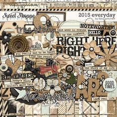 Digital Scrapbooking - 2015 Everyday Bundle by Libby Pritchett