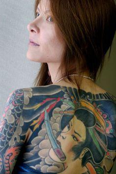 Tattoos on Japanese Men & Women Shoko Tendo, the daughter of Yakuza boss Hiroyasu TendoShoko Tendo, the daughter of Yakuza boss Hiroyasu Tendo Japanese Tatoo, Japanese Men, Traditional Japanese, Asian Tattoos, Weird Tattoos, Tatoos, Full Body Tattoo, Body Art Tattoos, Tattoo Art