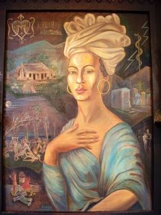 This is a portrait of the great Voodoo Queen of New Orleans Marie Laveau.  In her day she was beloved and feared; although long deceased, her spirit is still sighted from time to time at some of her favorite haunts. Illustration via the New Orleans Historic Voodoo Museum/Jerry Gandalf (the artist not the wizard).  See Chapter 14 of Dixie Spirits: http://www.sourcebooks.com/store/dixie-spirits.html