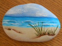 healthy breakfast ideas for kids images clip art designs for women Beach Scene Painting, Stone Art Painting, Pebble Painting, Pebble Art, Painting Tools, Diy Painting, Shell Painting, Rock Painting Patterns, Rock Painting Ideas Easy