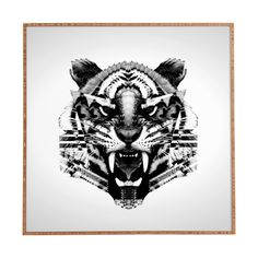 DENY Designs Tiger 4040 by Three of Thee Possessed Framed Graphic Art Plaque | AllModern