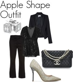"""""""Apple Shape Outfit"""" by tanyfashionista on Polyvore"""