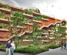 JAJA Architects Reinevent the Parking Garage into a Green Community Gathering Space with Park 'n' Play | Inhabitat - Sustainable Design Innovation, Eco Architecture, Green Building
