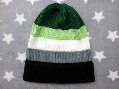Knit Pride Hat Aromantic Pride Slouchy Beanie