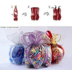 Reuse Plastic Bottles !  Wouldn't cookies be good in there?