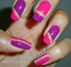 Negative Space Nails Barry M Nail Art #nails #nailart