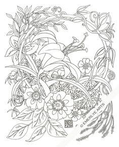 Синтия Emerlye, Вермонт художник и Киригами papercutter: Лилейник Круг - Взрослый раскраски страницы