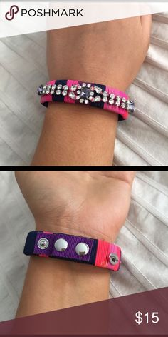 Juicy couture bracelet Fun friendship bracelet with rhinestones and adjustable clips, Juicy Couture Accessories