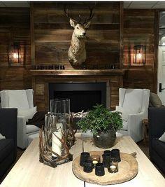 Home Interior Boho Cabin Homes, Log Homes, Chalet Design, Bohinj, Cabin Chic, Lodge Style, Chalet Style, Ski Chalet, Cabin Interiors