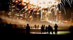 old man fireworks | ... gather on the beach to watch the fireworks. Picture: Luke Marsden